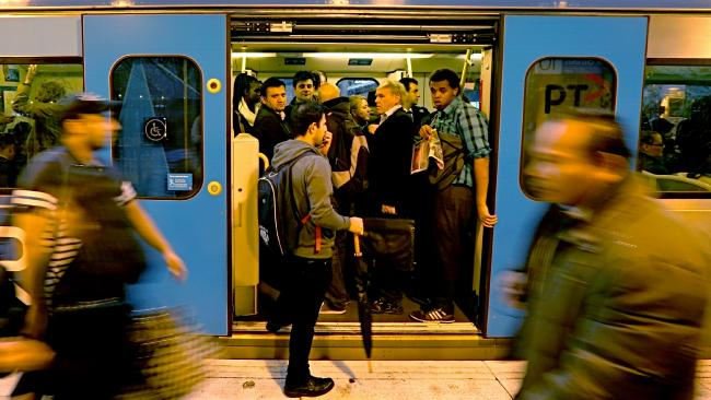 Melbourne Overcrowded Trains
