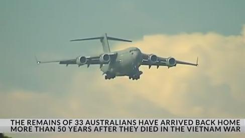 Remains of 33 Australians Repatriated