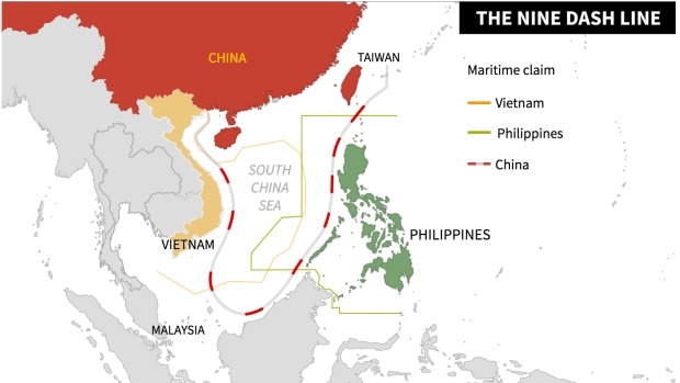 Nine Dash Line South China Sea