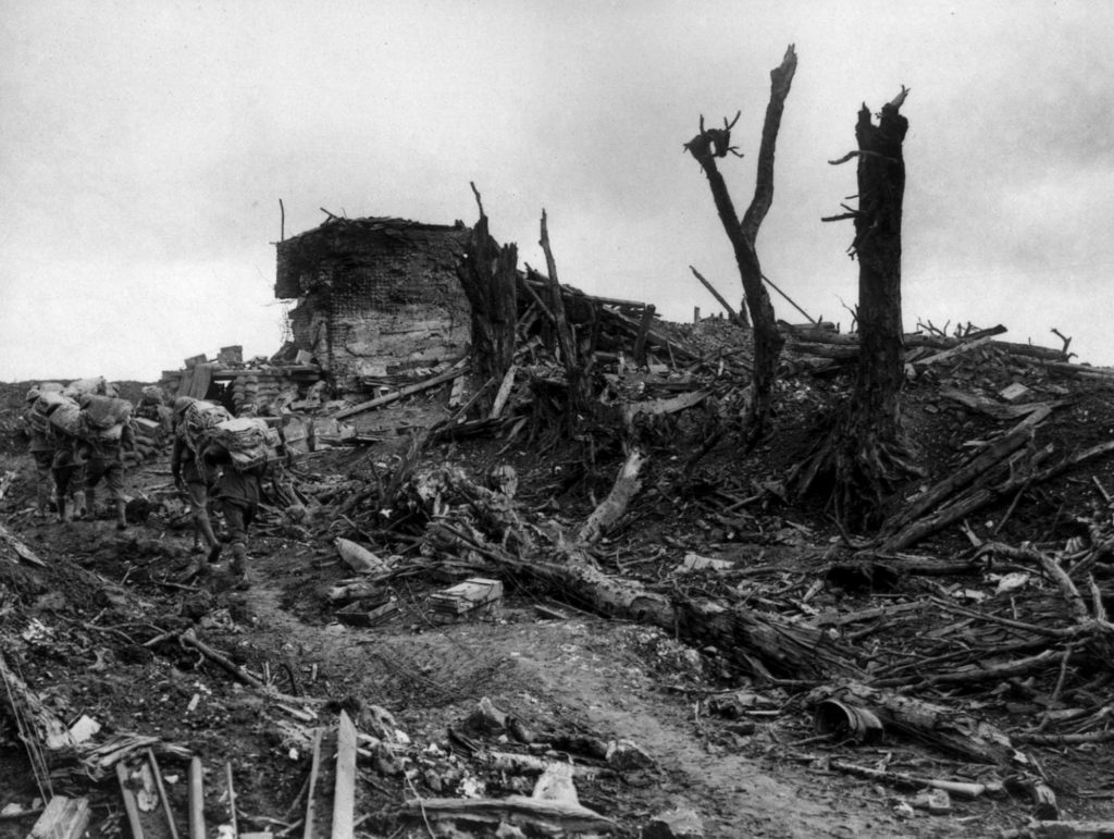 Pozieres Windmill bombed again and again