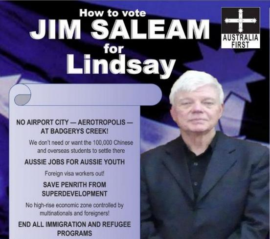 VOTE 1: Jim Saleam for Lindsay in 2019