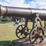 RUSSIAN BIG GUNS STAND CENTRE AT RUSSIA DAY IN SYDNEY'S CENTENNIAL PARK